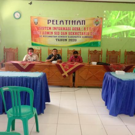 Pelatihan SID Se-kecamatan Sumber